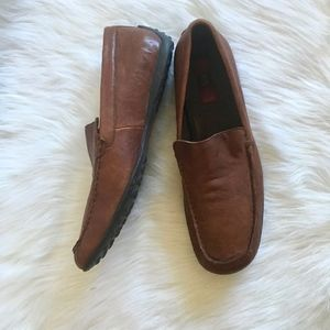 Born Brown Leather Driving Loafers 13